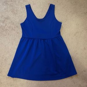 Forever 21 Royal Blue Fit and Flare Dress